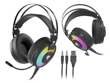 Słuchawki z mikrofonem Genesis Neon 600 RGB LED доставка товаров из Польши и Allegro на русском