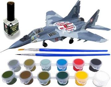 MiG-29M MODEL SAMOLOTU DO SKLEJANIA +KLEJ i FARBY доставка товаров из Польши и Allegro на русском
