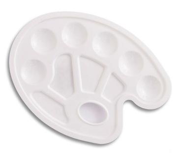 Paleta malarska plastikowa  biała 23 x 17 cm