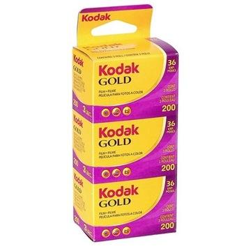 Filmy KODAK GOLD 200/36 trójpak K-ów доставка товаров из Польши и Allegro на русском