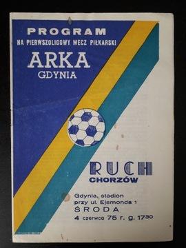ARKA GDYNIA - RUCH CHORZÓW 1975r доставка товаров из Польши и Allegro на русском