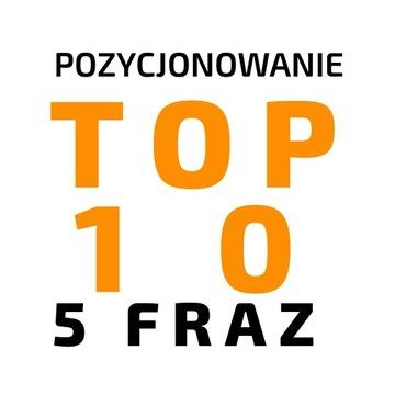 Pozycjonowanie 5 fraz do TOP 10 na ROK доставка товаров из Польши и Allegro на русском
