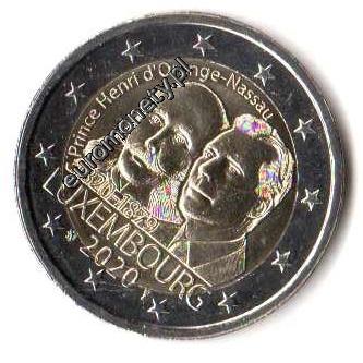 2 евро приблизительно Люксембург 2020 Ораниен- monetfun доставка товаров из Польши и Allegro на русском