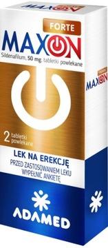 MAXON FORTE 50mg 2tabl syldenafil erekcja potencja