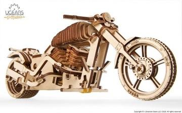 Мотоцикл ВМ-02 Модель механический Ugears дерево доставка товаров из Польши и Allegro на русском