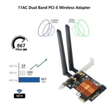 1200 mb/s FV-8802 Wifi Card Bluetooth 4.0 PCI доставка товаров из Польши и Allegro на русском