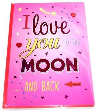 Открытка любви И love you to the MOON and Back доставка товаров из Польши и Allegro на русском