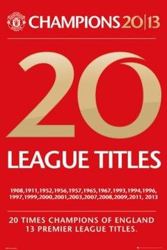Manchester United Champions Плакат 61x91,5 см КОНФЕРЕНЦ доставка товаров из Польши и Allegro на русском