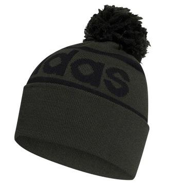 Двухслойная теплая зимняя кепка Adidas с помпоном доставка товаров из Польши и Allegro на русском