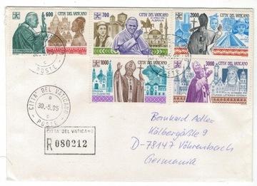 Ватикан 1995 Конверт Мне 1128-2 Иоанн Павел II путешествие доставка товаров из Польши и Allegro на русском