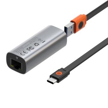 BASEUS USB-АДАПТЕР/ TYPE-C RJ45 GIGABIT LAN 1000 МБИТ доставка товаров из Польши и Allegro на русском