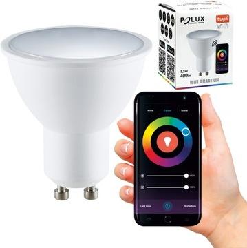 (Лампа SMART LED 5,5 вт 400lm WW-CW+RGB Wi-Fi ТУЯ) доставка товаров из Польши и Allegro на русском