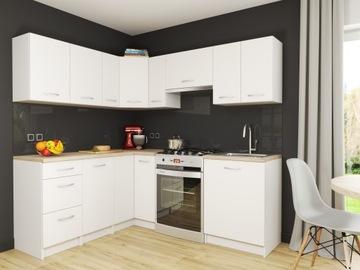 Набор мебели для кухни Марсель Белые Угловые доставка товаров из Польши и Allegro на русском