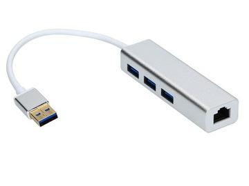ADAPTER USB LAN RJ45 + HUB 3xUSB 3.0 KARTA GIGABIT доставка товаров из Польши и Allegro на русском