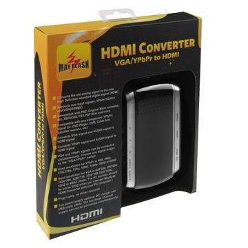 Адаптер Mayflash Component YPbPr и VGA для HDMI доставка товаров из Польши и Allegro на русском
