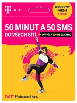 Чешская sim-карта чешский T-mobile 100Kč 50мин 50sms доставка товаров из Польши и Allegro на русском