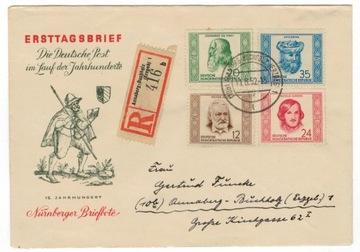 FDC Германия ГДР 1952 Мне 311-4 медицины da Vinci литовский доставка товаров из Польши и Allegro на русском