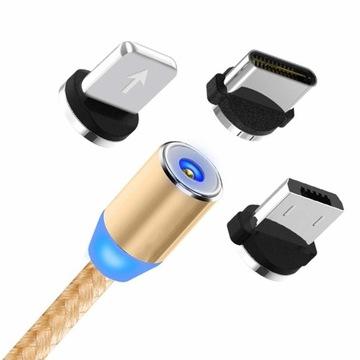 KABEL 3w1 MAGNETYCZNY 1m DO IPHONE TYP-C MICRO USB доставка товаров из Польши и Allegro на русском