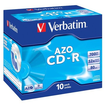 PŁYTA VERBATIM CD-R 700MB PRĘDKOŚĆ 52X, JEWEL CASE доставка товаров из Польши и Allegro на русском