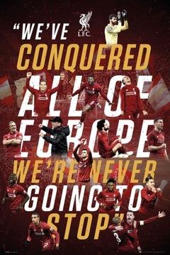 Плакат спортивный Liverpool FC Europe 2019 61x91,5 см доставка товаров из Польши и Allegro на русском