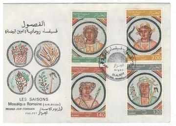 FDC Марки Алжир 1977 археология мозаики доставка товаров из Польши и Allegro на русском