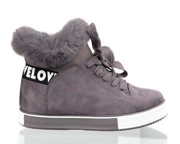 Ботинки на толстой рельефной подошве Женская зимняя обувь, утепленные Зимние Сапоги доставка товаров из Польши и Allegro на русском