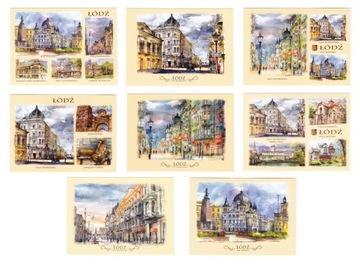 АЛГОРИТМ открытки, акварели 8 шт доставка товаров из Польши и Allegro на русском