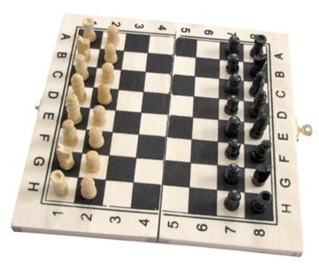 Шахматы деревянные набор путешественника 21x21cm шашки доставка товаров из Польши и Allegro на русском