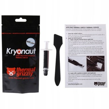 Паста теплообмена Thermal Grizzly Kryonaut 1g доставка товаров из Польши и Allegro на русском