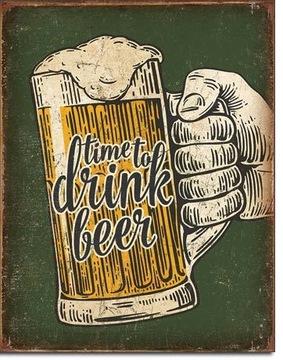 США юмор металлический плакат Время для пива доставка товаров из Польши и Allegro на русском