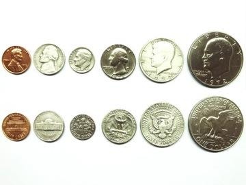 komplet USA 1 - 5 - 10 - 25 - 50 centów - 1 dolar доставка товаров из Польши и Allegro на русском