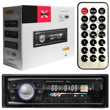 Автомобильный радиоприемник BLUETOOTH МИКРОФОН ПУЛЬТ 4x60W доставка товаров из Польши и Allegro на русском
