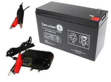 Гелевый аккумулятор AGM 12В 7,2 Ач, 7ач + ЗАРЯДНОЕ устройство доставка товаров из Польши и Allegro на русском