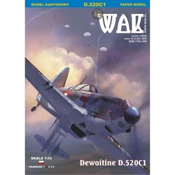 ОАК 1/20 - Истребитель Dewoitine D. 520C1 1:33 доставка товаров из Польши и Allegro на русском