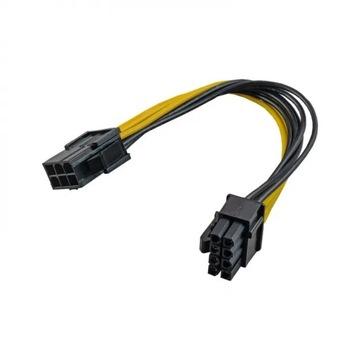 АДАПТЕР ПЕРЕХОДНИК PCI-E 6-pin на 8-pin 20см доставка товаров из Польши и Allegro на русском