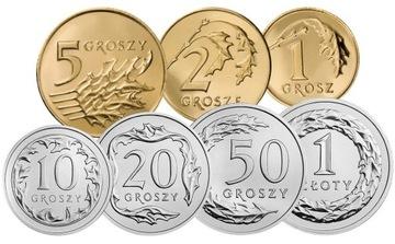 Комплект циркуляционных монет 2012 года. UNC 7 шт доставка товаров из Польши и Allegro на русском