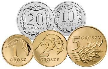 Комплект циркуляционных монет 2004 года. UNC 5 штук доставка товаров из Польши и Allegro на русском