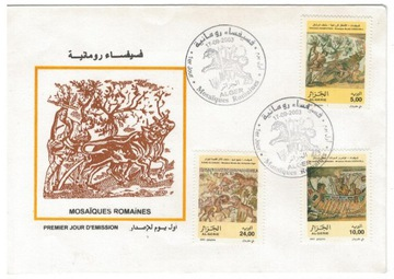 FDC Марки Алжир 2003 археология мозаики доставка товаров из Польши и Allegro на русском