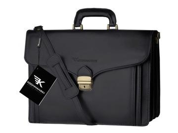 KOCHMAŃSKI портфель кожаный мужской портфель с ручкой доставка товаров из Польши и Allegro на русском