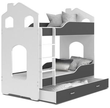 Łóżko piętrowe DOMINIK DOMEK 160x80 i 2 Materace