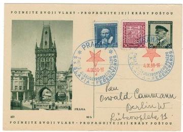 Чехословакия Штамп с датой 1938 спорт футбол Венгрия доставка товаров из Польши и Allegro на русском
