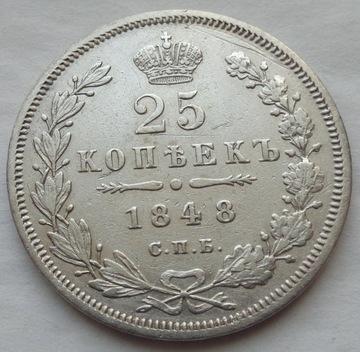 Россия - 25 копеек - 1848 HI - НИКОЛАЙ I / K-В доставка товаров из Польши и Allegro на русском
