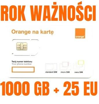 STARTER INTERNET ORANGE FREE 1000GB ГОД + 25GB EU доставка товаров из Польши и Allegro на русском