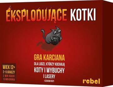ВЗРЫВАЮЩИЕСЯ КОТЯТА настольная Игра для вечеринок REBEL доставка товаров из Польши и Allegro на русском