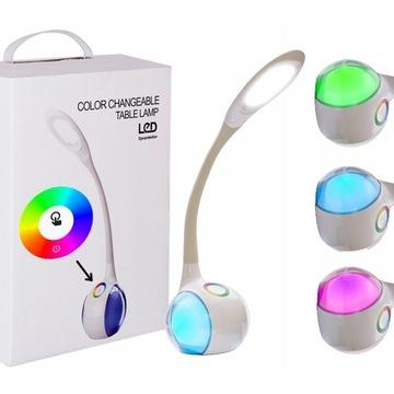 LAMPKA USB LED BIURKOWA lampa biurko 256 BARW RGB доставка товаров из Польши и Allegro на русском