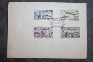 POLSKA POCZTA LOTNICZA FI 590-593 B 1952 доставка товаров из Польши и Allegro на русском