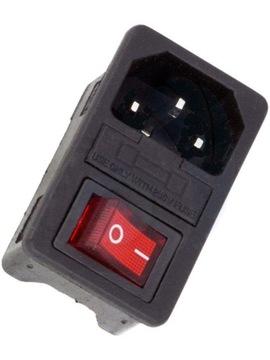 Штекер C14 AC 3pin монтажный выключатель предохранитель доставка товаров из Польши и Allegro на русском