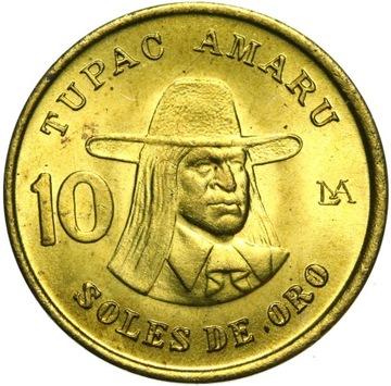 Перу - монета 10 Солей 1978 TUPAC AMARU - Состояние UNC доставка товаров из Польши и Allegro на русском