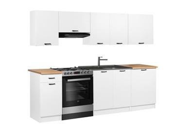 Кухонная мебель АГАТА комплект 2,4 м с столешницей БЕЛЫЕ доставка товаров из Польши и Allegro на русском