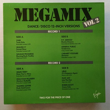 Megamix Vol. 2 [MINT-/MINT-/VG+] OMD UB40 доставка товаров из Польши и Allegro на русском
